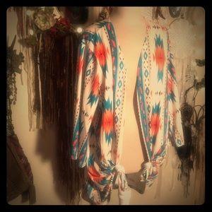 Feather and Aztec Kimono